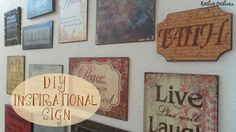 DIY Inspirational Sign {Awesome step by step tutorial} - Kreative Creationz Wood Signs Sayings, Diy Wood Signs, Crafts To Make, Easy Crafts, Wood Crafts, Paper Crafts, Inspirational Signs, Diy Wall Decor, Fun Projects