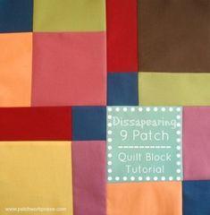 dissapearing 9 patch quilt block tutorial   patchwork posse