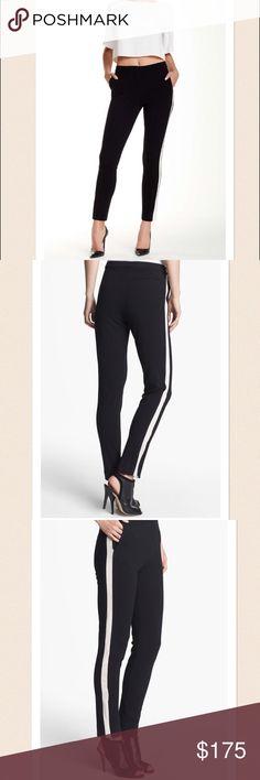 NWT Halston Heritage Skinny Ankle Tuxedo Pant, 2 NWT Halston Heritage Skinny Ankle Tuxedo Pant, Size 2. Black/Bone. Brand new with tags. Gorgeous pants. Halston Heritage Pants