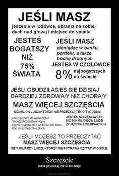 Szczęście, no tak, to racja My Mood, Life Motivation, Better Life, Motto, True Stories, Life Lessons, Quotations, Me Quotes, Inspirational Quotes