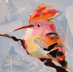 Hoopoe bird original oil painting by Angela Moulton 6 x 6 inch on panel ready to ship June 17 door prattcreekart op Etsy https://www.etsy.com/nl/listing/235886186/hoopoe-bird-original-oil-painting-by