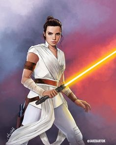 Rey Skywalker, Jedi Knight, an art print by Jake Bartok The Mentalist, Rey Star Wars, Star Wars Art, Star Trek, Sherlock, Saga, Images Star Wars, Rian Johnson, Star Wars Novels
