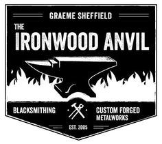 Emblematic logo design for a blacksmith. (by Cai Sepulis, Ballyhoo Media)