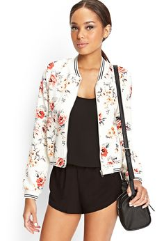 I'm loving bomber jackets at the moment and this has to be my fav (mainly because its not Black again!!) This is a Floral Print Bomber Jacket by Forever 21 and the outfit is stunning!