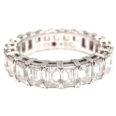1stdibs - ROBERTO COIN 4.56CT Diamond Eternity Platinum Ring explore items from 1,700  global dealers at 1stdibs.com