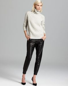 Vince Sweater - Textured Cable Turtleneck $325#onlinestore #fashion #haute #socialbliss #onlineshop