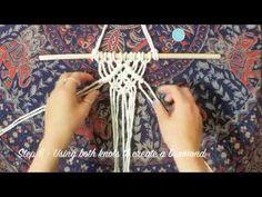 DIY Macrame Wall Hanging - Beginners lesson - Basic knots tutorial - YouTube