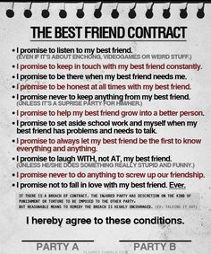best friend contract.....I asked him what he thought of this. He said maybe but I have already broke one of them. I asked which one? He said I fell in love with you Kailey, and I had to push you away. Little and try not to do it again.