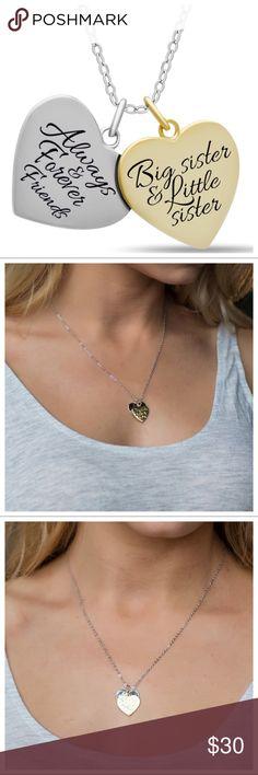"""*UK* 925 Silver Plt /'Love Hope Faith/' Heart Anchor Cross Engraved Necklace 18/"""""""
