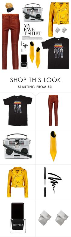 """""""Dress Up a T-Shirt"""" by the-geek-goddess ❤ liked on Polyvore featuring Isabel Marant, Dolce&Gabbana, Jeffrey Campbell, Boohoo, Bobbi Brown Cosmetics, Context and MyFaveTshirt"""