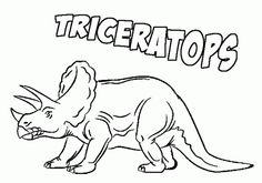 Triceratops-coloring-page
