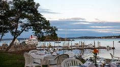 17 Maine Restaurants With Stunning Views I grew up in a small coastal town in Oregon and love anything near the water. Someday, I want to take the cliché Maine trip and devour a Lobster Roll and see the lighthouses. East Coast Travel, East Coast Road Trip, Portland Hotels, Portland Maine, Weekend Getaways From Nyc, Maine Road Trip, Road Trips, Visit Maine, New England Travel