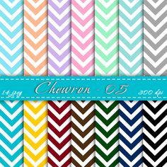 INSTANT DOWNLOAD - Chevron scrapbooking paper, Digital chevron, Zig zag paper         January 24, 2014 at 01:55AM
