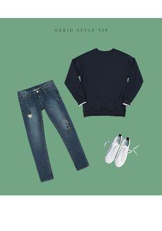 [[RW.255] 드랍 언더 배색 맨투맨 티셔츠 남자패션 남성패션 남자쇼핑몰 남성쇼핑몰 쇼핑몰 의류쇼핑몰 남자옷 남자코디 데일리룩 남자데일리룩 남친룩 Daily Look, Polyvore, Fashion, Moda, Fashion Styles, Fashion Illustrations