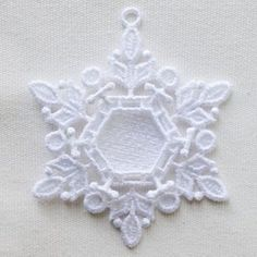 FSL Snowflake Photo Ornament 11 - 5x7 | What's New | Machine Embroidery Designs | SWAKembroidery.com Ace Points Embroidery