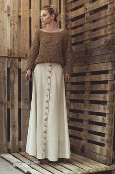 """""""Grigi"""" is a company created by fashion designer Monica Gonçalves Goncalves, Yoga Accessories, Cork, Lace Skirt, Knitwear, Knitting, Skirts, Fashion Design, Style"""