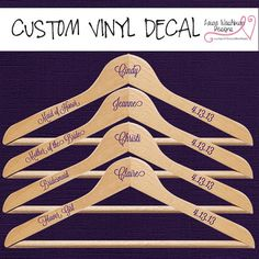 Vinyl: Wedding Hangers - Custom Vinyl Decal