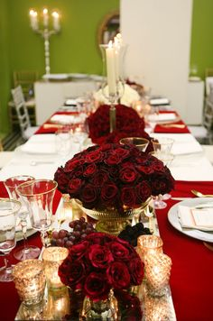 Different variations of tabletop decor are combined to see which pairing the couple prefers best.