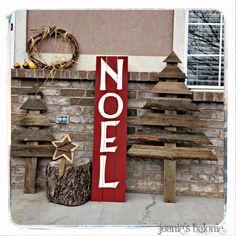 Noel sign and Barnwood Christmas trees tutorial