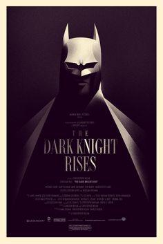 Olly Moss livre une affiche pour The Dark Knight Rises | COMICSBLOG.fr