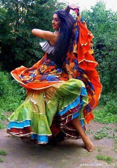 Russian Romani dancer