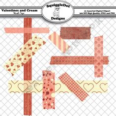 Valentines and Cream Washi Tape product from SquiggleDot-Designs on TeachersNotebook.com
