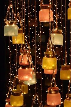 DIY Hanging decor ideas for an Attractive Wedding! DIY Hanging decor ideas for an Attractive Wedding! Diwali Decoration Lights, Diwali Decorations At Home, Diwali Lights, Festival Decorations, Light Decorations, Wedding Decorations, Diwali Lantern, Fairy Light Decor, Diwali Lamps
