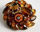 """Autumn Splendor! An EcoChic """"Autumn Aura"""" Weekly Theme Treasury featuring our Juliana Style brooch. Double click through to see all the fantastic pieces!"""