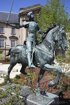 Joan of Arc in Reims, Champagne, France