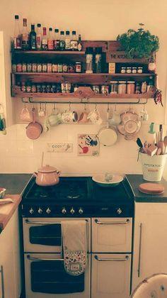 Genius tiny house kitchen ideas (58) #AwesomeInteriorDecoratingTips