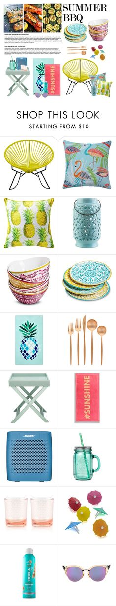 """""""SUMMER BBQ"""" by gizaboudib ❤ liked on Polyvore featuring interior, interiors, interior design, home, home decor, interior decorating, Innit, Surya, Mudhut and Matouk"""
