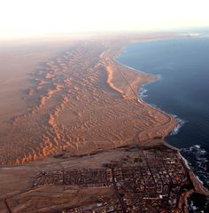 Swakopmund, Namibia where desert meets ocean Wonderful Places, Beautiful Places, Amazing Places, Land Of The Brave, Africa Destinations, Namib Desert, Namibia, Mekka, Out Of Africa