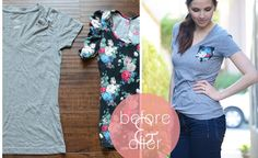Learn how to make a contrasting pocket T-Shirt!