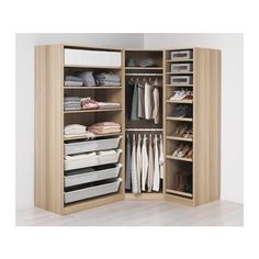 PAX Wardrobe, white stained oak effect, Nexus Vikedal - standard hinges - cm - IKEA