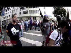 Equipe da Globo é expulsa de protesto dos professores no Rio