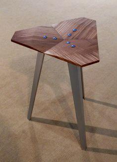 D117 Stool (Naked White Oak + Aluminum) from David Hsu Design @ ICFF 2013