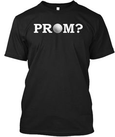 Volleyball Prom Promposal Idea Black T-Shirt Front