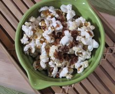 370 Commons' popcorn with bacon and maple syrup.