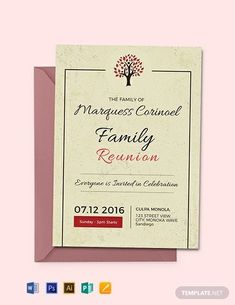 Family Reunion Invitation Template Free Best Of 35 Family Reunion Invitation Templates Psd Vector Eps Invitation Maker, Business Invitation, Invitation Wording, Invitation Design, Invitation Ideas, Invite, Free Wedding Invitation Templates, Wedding Invitation Samples, Printable Invitations