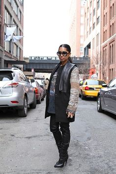 #Street Style From New York Fashion Week: Days 6 and 7 | StyleCaster #Stylishfit.pt | A tua consultoria de imagem online -- #consultoria_de_imagem_online -- http://blog.stylishfit.pt