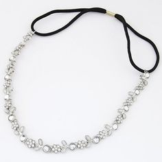 $3.41 Chic Diamante Floral Pattern Hairband For Women