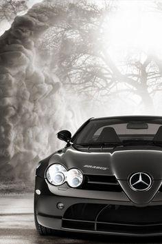 Black Mercedes SLK AMG