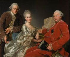 Alexander Roslin, John Jennings Esq., His Brother And Sister-In-Law, 1769