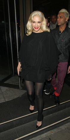 Gwen Stefani was seen here leaving Novikov restaurant in Mayfair, London. Gwen was in there with her band mates, who are here with the singer to promote there new single. 9-25-2012