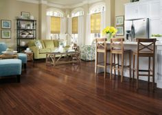 Bellawood Bamboo flooring is a beautiful and earth friendly way to add warmth and style. It's one of my picks as a standout product from the 2014 International Builders Show because it offers homeowners a stylish, sustainable alternative to wood floors since Bamboo is a grass and grows back quickly. Look for more details on my blog www.HouseSpiration.com   Bellawood Bamboo flooring is part of Lumber Liquidators' premier brand of Bellawood Prefinished Hardwood Flooring.