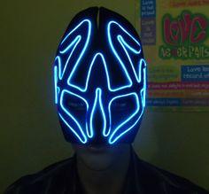 Alien Glow El wire mask by ELWire4U on Etsy, $50.00 | JWR Designs ...