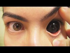 How to: Insert And Remove Black Sclera Contact Lenses (Fxeyes) - YouTube