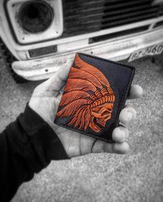 War Chief Card Wallet. Custom wallet #leathercraft #fashion #mensfashion #handmade #propergentleman