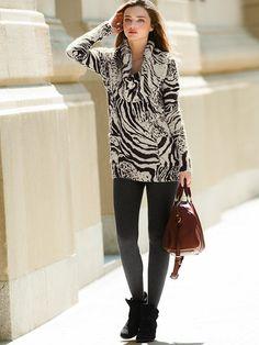 NEW! Zebra-print Turtleneck Sweater #VictoriasSecret http://www.victoriassecret.com/clothing/casual-chic-looks/zebra-print-turtleneck-sweater?ProductID=85589=OLS?cm_mmc=pinterest-_-product-_-x-_-x