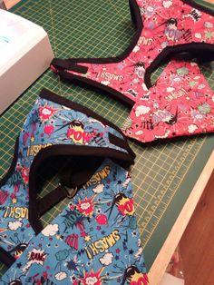Handmade super hero harness and bandana https://www.facebook.com/Sheridanshandmadedogcollarsandleads/ Handmade superhero harness and bandana